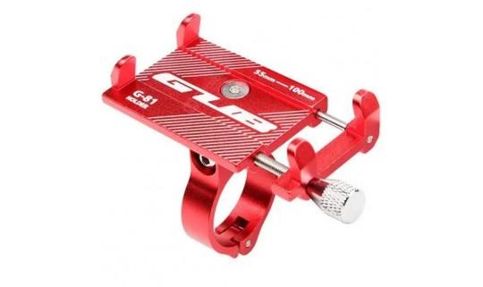 Держатель гаджета GUB G-81 на руль алюминиевый, красный