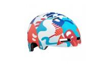 Шлем LAZER Street Jr, подростковый, красно-синий камуфляж