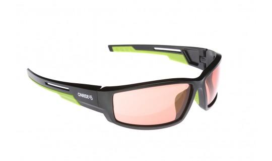 Очки Onride Point матовый черный зеленый с линзами Orange (Cat.2) 863034af636