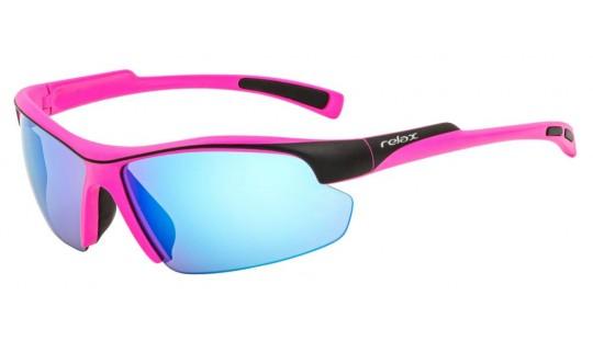 Очки Relax Lavezzi R5395G розовый / черный с линзами ICE BLUE PLATINUM (Cat.2)
