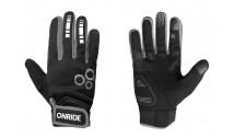 Перчатки ONRIDE Pleasure 20 из ветрозащитной ткани черный/серый