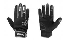 Перчатки ONRIDE Pleasure 20 из ветрозащитной ткани, черный/серый