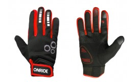 Перчатки ONRIDE Pleasure 20 из ветрозащитной ткани черный/красный