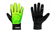 Перчатки ONRIDE Icy 10 из ветрозащитной ткани, черный/неон