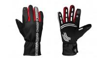 Перчатки ONRIDE Kaplan из ветрозащитной ткани черный/красный