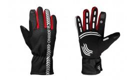Перчатки ONRIDE Kaplan из ветрозащитной ткани, черный/красный