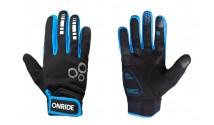 Перчатки ONRIDE Pleasure 20 из ветрозащитной ткани черный/синий