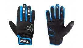 Перчатки ONRIDE Pleasure 20 из ветрозащитной ткани, черный/синий
