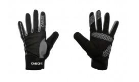 Перчатки ONRIDE Pleasure длинные пальцы, черный/серый