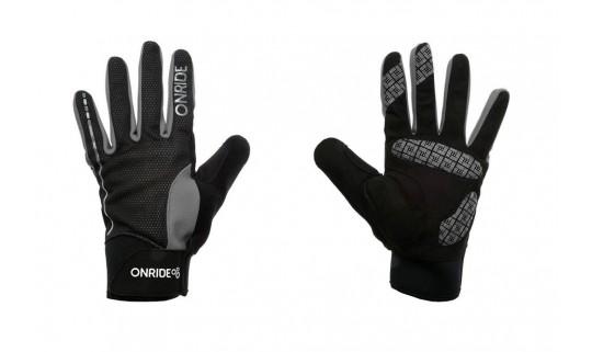 Перчатки ONRIDE Pleasure длинные пальцы черный/серый