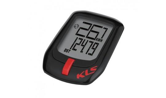 Велокомпьютер проводной KLS Direct WL, чёрный\красный