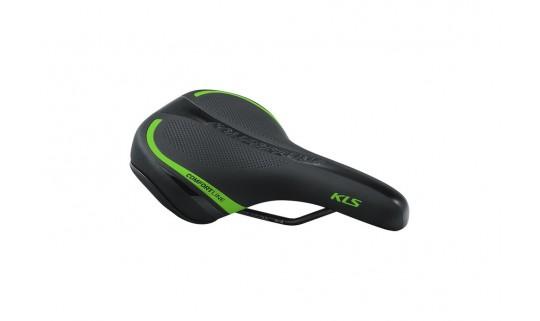 Седло KLS Comfortline 17 черный/зелёный