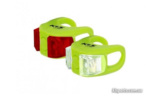 Мигалка KLS Twins набор зелёный
