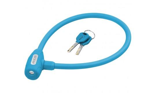 Велозамок KLS Jolly тросовый 12x650 мм голубой