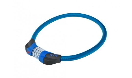 Велозамок KLS Crypt тросовый кодовый синий