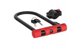 Велозамок U-образный KLS Bold U-Lock 16x100x240 мм красный