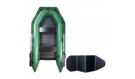 Моторная надувная лодка Ладья ЛТ-270МВЕ со сланью-книжкой и передвижным сиденьем