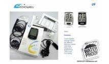 Велокомпьютер ECHOWELL U9, 9 функций