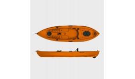 Каяк рыболовный SEAFLO SF-1007 оранжевый
