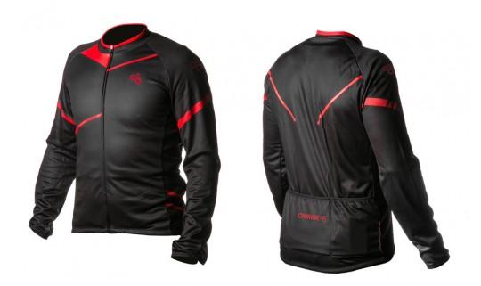 Велокуртка ONRIDE SHELL черный/красный