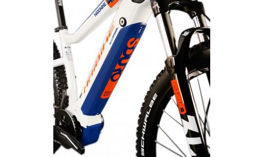 """Велосипед Haibike SDURO HardSeven 5.0 i500Wh 10 s. Deore 27,5"""", бело-оранжево-синий, 2020"""