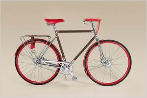 Louis Vuitton представил велосипед, созданный совместно с парижской мастерской Maison Tamboite