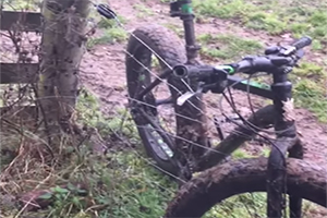Британцы насмешили соцсети освобождением велосипеда из электрической изгороди (видео)